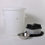 Steam-wax-melter, plastic - complete