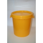 Transport plastic container with cover-40kg yellow